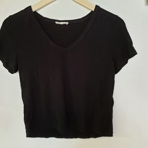 Olivia rae black crop top size M